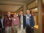Mr. Don Droettboom, Sandy McCallum, Principal Carl Fynboe, and Mr. Bob Peterson at the Sunday Brunch, Fircrest Golf Club