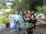 The decorating and  flower arranging crew: Karen Kasemeier Patton, Kathie Irwin Manley, Karen Deyton Colleran, Pat Templ