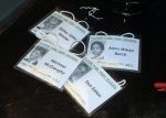 Name tags with photos of what we used to look like!