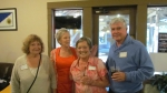 Kathy Brock Palmer, Rona Woodcock, and Colleen LaMon McAllister with Bill Dick